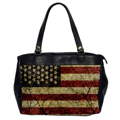 Vinatge American Roots Oversize Office Handbag (one Side) by dflcprints