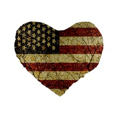 Vinatge American Roots 16  Premium Heart Shape Cushion  by dflcprints