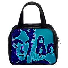 Led Zeppelin Digital Painting Classic Handbag (Two Sides) by SaraThePixelPixie