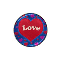 Love Theme Concept  Illustration Motif  Golf Ball Marker (for Hat Clip) by dflcprints