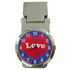 Love Theme Concept  Illustration Motif  Money Clip With Watch by dflcprints