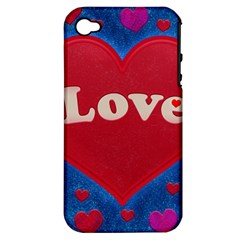 Love Theme Concept  Illustration Motif  Apple Iphone 4/4s Hardshell Case (pc+silicone) by dflcprints
