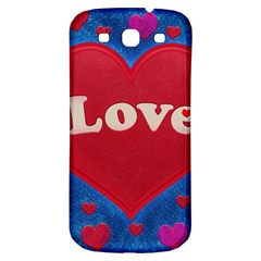 Love Theme Concept  Illustration Motif  Samsung Galaxy S3 S Iii Classic Hardshell Back Case by dflcprints
