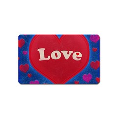 Love Theme Concept  Illustration Motif  Magnet (name Card) by dflcprints