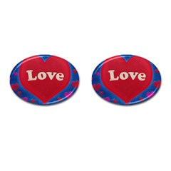 Love Theme Concept  Illustration Motif  Cufflinks (oval) by dflcprints