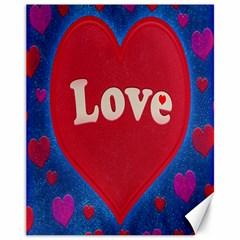 Love Theme Concept  Illustration Motif  Canvas 11  X 14  (unframed) by dflcprints