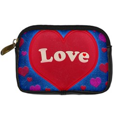 Love theme concept  illustration motif  Digital Camera Leather Case by dflcprints