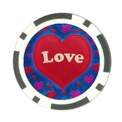 Love Theme Concept  Illustration Motif  Poker Chip (10 Pack) by dflcprints