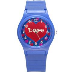 Love Theme Concept  Illustration Motif  Plastic Sport Watch (small) by dflcprints