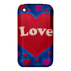 Love Theme Concept  Illustration Motif  Apple Iphone 3g/3gs Hardshell Case (pc+silicone) by dflcprints