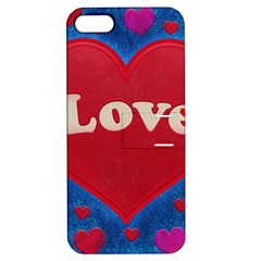 Love theme concept  illustration motif  Apple iPhone 5 Hardshell Case with Stand by dflcprints