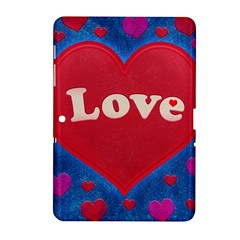 Love Theme Concept  Illustration Motif  Samsung Galaxy Tab 2 (10 1 ) P5100 Hardshell Case  by dflcprints