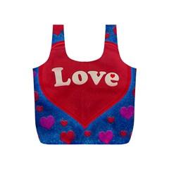 Love Theme Concept  Illustration Motif  Reusable Bag (s) by dflcprints