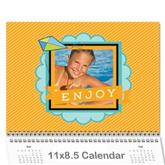 Summer By Summer Time    Wall Calendar 11  X 8 5  (12 Months)   Piy9duc8ssow   Www Artscow Com Cover