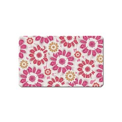 Feminine Flowers Pattern Magnet (name Card) by dflcprints