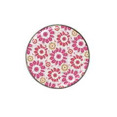 Feminine Flowers Pattern Golf Ball Marker 4 Pack (for Hat Clip) by dflcprints