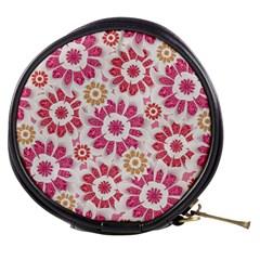 Feminine Flowers Pattern Mini Makeup Case by dflcprints