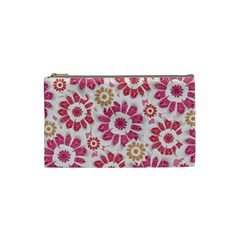 Feminine Flowers Pattern Cosmetic Bag (small) by dflcprints