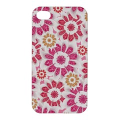 Feminine Flowers Pattern Apple Iphone 4/4s Premium Hardshell Case by dflcprints