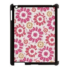 Feminine Flowers Pattern Apple Ipad 3/4 Case (black) by dflcprints