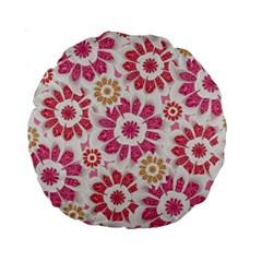 Feminine Flowers Pattern 15  Premium Round Cushion  by dflcprints