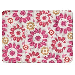 Feminine Flowers Pattern Samsung Galaxy Tab 7  P1000 Flip Case by dflcprints
