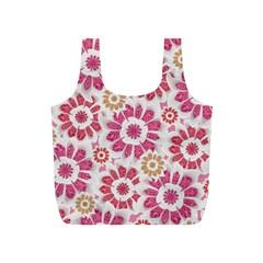 Feminine Flowers Pattern Reusable Bag (s) by dflcprints