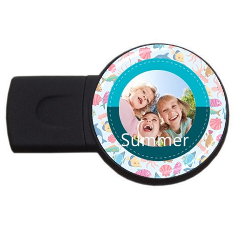 Summer By Summer Time    Usb Flash Drive Round (2 Gb)   F0oi07ihzear   Www Artscow Com Front