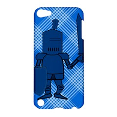 Blue Knight On Plaid Apple Ipod Touch 5 Hardshell Case by StuffOrSomething