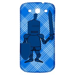 Blue Knight On Plaid Samsung Galaxy S3 S Iii Classic Hardshell Back Case by StuffOrSomething