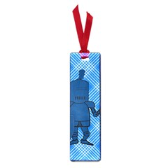 Blue Knight On Plaid Small Bookmark by StuffOrSomething