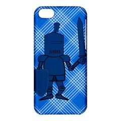 Blue Knight On Plaid Apple Iphone 5c Hardshell Case by StuffOrSomething