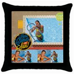summer - Throw Pillow Case (Black)