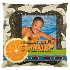 Summer By Summer Time    Large Cushion Case (two Sides)   B6i3n5rftce3   Www Artscow Com Front