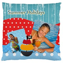 Summer By Summer Time    Large Cushion Case (two Sides)   T6p9arcbe8mi   Www Artscow Com Back