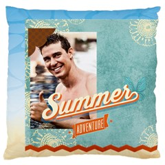 Summer By Summer Time    Large Cushion Case (two Sides)   1lj9n9yn1l1w   Www Artscow Com Front