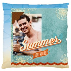 Summer By Summer Time    Large Cushion Case (two Sides)   1lj9n9yn1l1w   Www Artscow Com Back