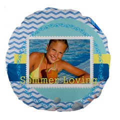 Summer By Summer Time    Large 18  Premium Round Cushion    90s7jy50j9ru   Www Artscow Com Front