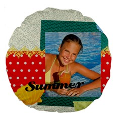 Summer By Summer Time    Large 18  Premium Round Cushion    B1b2olk93o4e   Www Artscow Com Back