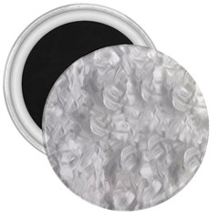 Abstract In Silver 3  Button Magnet by StuffOrSomething