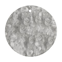 Abstract In Silver Round Ornament by StuffOrSomething