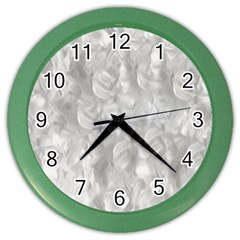 Abstract In Silver Wall Clock (color) by StuffOrSomething
