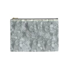 Abstract In Silver Cosmetic Bag (medium)