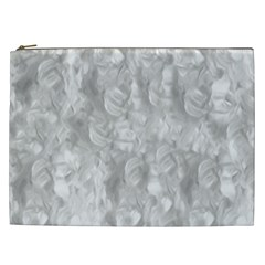 Abstract In Silver Cosmetic Bag (xxl) by StuffOrSomething