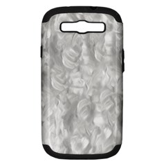 Abstract In Silver Samsung Galaxy S Iii Hardshell Case (pc+silicone) by StuffOrSomething