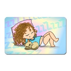 Sleepy Time Magnet (rectangular) by CaterinaBassano
