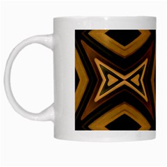 Tribal Diamonds Pattern Brown Colors Abstract Design White Coffee Mug by dflcprints