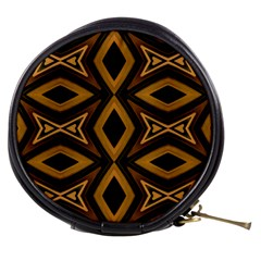 Tribal Diamonds Pattern Brown Colors Abstract Design Mini Makeup Case by dflcprints