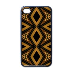 Tribal Diamonds Pattern Brown Colors Abstract Design Apple Iphone 4 Case (black) by dflcprints
