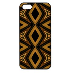 Tribal Diamonds Pattern Brown Colors Abstract Design Apple Iphone 5 Seamless Case (black) by dflcprints